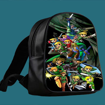 Legend of Zelda Heroes for Backpack / Custom Bag / School Bag / Children Bag / Custom School Bag ***