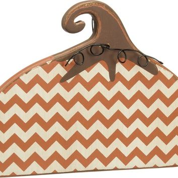 Wooden Stand Up Chevron Pumpkin