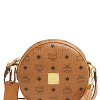 MCM 'Heritage Tambourine' Coated Canvas Crossbody Bag