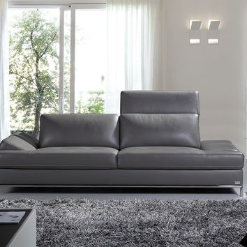Izzy Modern Dark Grey Eco-Leather Sofa