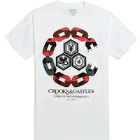 Crooks and Castles Chain C Underworld T-Shirt - Mens Tee - White