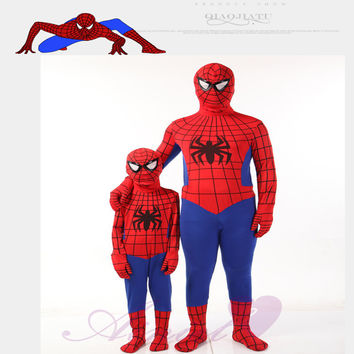 Hot Sale Marvel Comic Spiderman Child and Adult Cosplay Costume Halloween Superhero Bodysuit Carnival Party Fancy Dress CS106