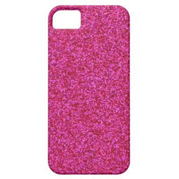 Hot Pink Glitter iPhone 5 Case from Zazzle.com