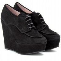 mytheresa.com -  Opening Ceremony - PENNY OXFORD SUEDE PLATFORM WEDGES  - Luxury Fashion for Women / Designer clothing, shoes, bags