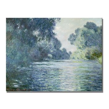 ''Branch of the Seine Near Giverny'' Canvas Wall Art by Claude Monet (Natural)