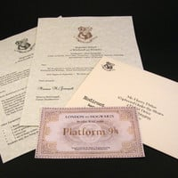 Harry Potter Hogwarts Acceptance Letter with by dynamicalley