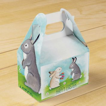 Happy Easter bunny favor box