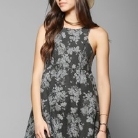 Somedays Lovin Showdown Denim Floral Mini Dress - Urban Outfitters