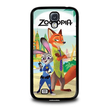 ZOOTOPIA JUDY AND NICK Disney Samsung Galaxy S4 Case Cover