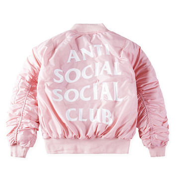 Hot MA1 Anti Social Social Club Jacket TOUR Men Women 1:1 High Quality Logo Kanye West London ASSC Hoodies Hip Hop Sweat Shirts