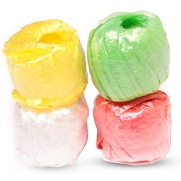 10 Rolls/pack Colored Plastic Rope Packaging Rope for Gift Boxes Free Shipping Cake Cookie Raffia Ribbon Material Escolar