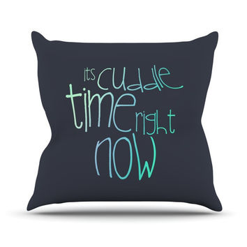 "Monika Strigel ""Cuddle Time Mint"" Outdoor Throw Pillow"