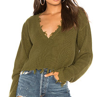 Lovers + Friends Prospect Sweater in Army Green