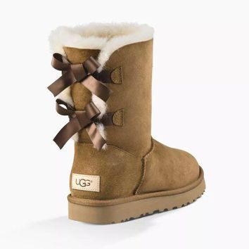 UGG Women's Bailey Bow II Fashion Wool High Top Boots G