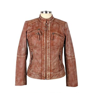 Women's Kelowana Cognac Leather Jacket