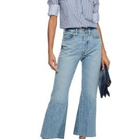 Frayed high-rise flared jeans | RE/DONE by LEVI'S | Sale up to 70% off | THE OUTNET