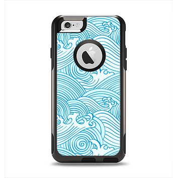 The Seamless Blue Waves Apple iPhone 6 Otterbox Commuter Case Skin Set