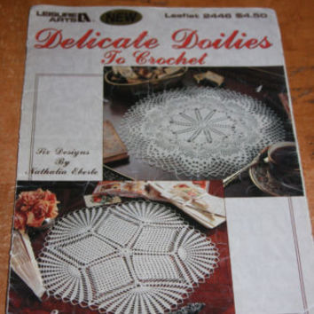 Dlicate Doilies To Crochet Thread Pattern Booklet