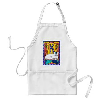 Peace And Love Valentine Cat Design Adult Apron