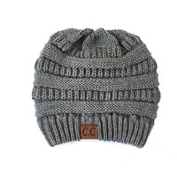 Comfort Me Knit Beanie in Charcoal