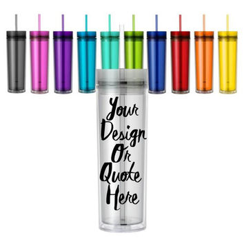 Customize Your own 16oz Double Wall Acrylic Tumbler // Custom // Wedding // Water Bottle // Girls Weekend // Gifts for her // Bachelorette