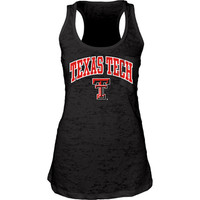 Texas Tech Red Raiders Womens Black Pocket Burn Tank Top