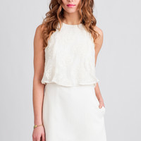 Shine A Light Embroidered Romper By Line & Dot