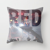 Taylor Swift Throw Pillow by Lauren Gordy
