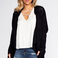 Sunset Vista Cardigan - Black