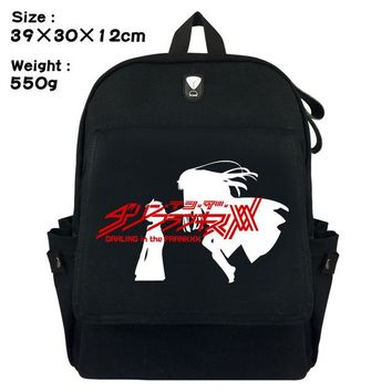 Anime Backpack School Darling in the FranXX Backpack kawaii cute ZERO TWO Teenager Boys Girls Book Bag Children School Bags Women Laptop Backpack Gift AT_60_4