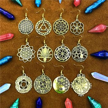 Flower of Life India Earring