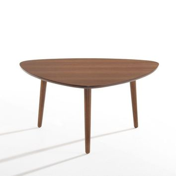 Modrest Bolan Mid Century Modern Walnut Coffee Table