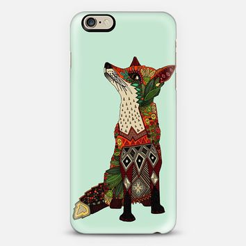 fox love mint iPhone 6 case by Sharon Turner | Casetify
