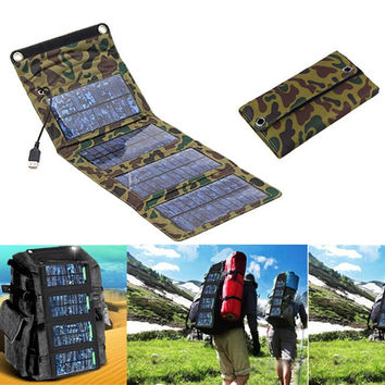 Outdoor Solar Panel USB Charger Battery Power Bank for iPod or Samsung