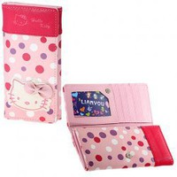 Lovely Pink Hello Kitty Style Rectangle Foldable Purse Faux Leather Wallet/Purse Hot Sale At Wholesale Price - Gadgetsdealer.com
