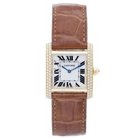 Cartier Tank Francaise Midsize 18k Yellow Gold Watch Ivory colored dial