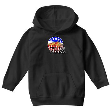vote for pizza Youth Hoodie