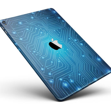 """Blue Circuit Board V2 Full Body Skin for the iPad Pro (12.9"""" or 9.7"""" available)"""