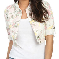 Floral Crop Jacket - Teen Clothing by Wet Seal