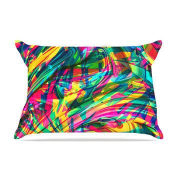 "Danny Ivan ""Wild Abstract"" Rainbow Illustration Pillow Sham"