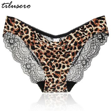 12 Colors High-Crotch Women's Sexy Lace Panties With Big Size,S-XXL Transparent Floral Bow Soft Briefs Underwear Culotte T022