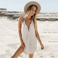 Spaghetti Strap Skirt Summer One Piece [9908202573]