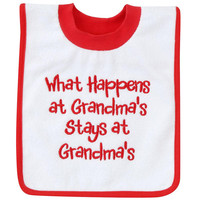 Koala Baby 'What Happens At Grandmas...' Pullover Bib