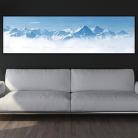 wall art Paintingcanvas painting landcape snow mountain art print  wall picture and posters picture decoration for living room