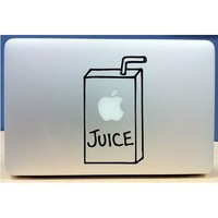 Apple Juice Box - Vinyl Macbook / Laptop Decal Sticker Graphic