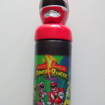 Vintage Mighty Morphin Power Rangers Sports Bottle 1994