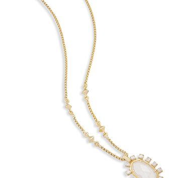 Kendra Scott Brett Rock Crystal Long Bolo Necklace