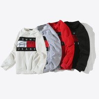 Tommy Hilfiger Woman Men Fashion Top Sweater Pullover