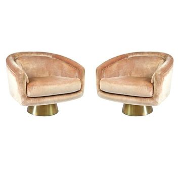 Pre-owned Jonathan Adler Bacharach  Lounge Chairs - A Pair