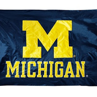 Michigan Wolverines 2-sided Nylon Applique 3 Ft x 5 Ft Flag w/ grommets